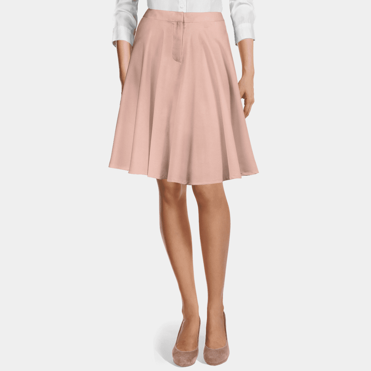 Pink high waisted flared Skirt 69€ | Sumissura