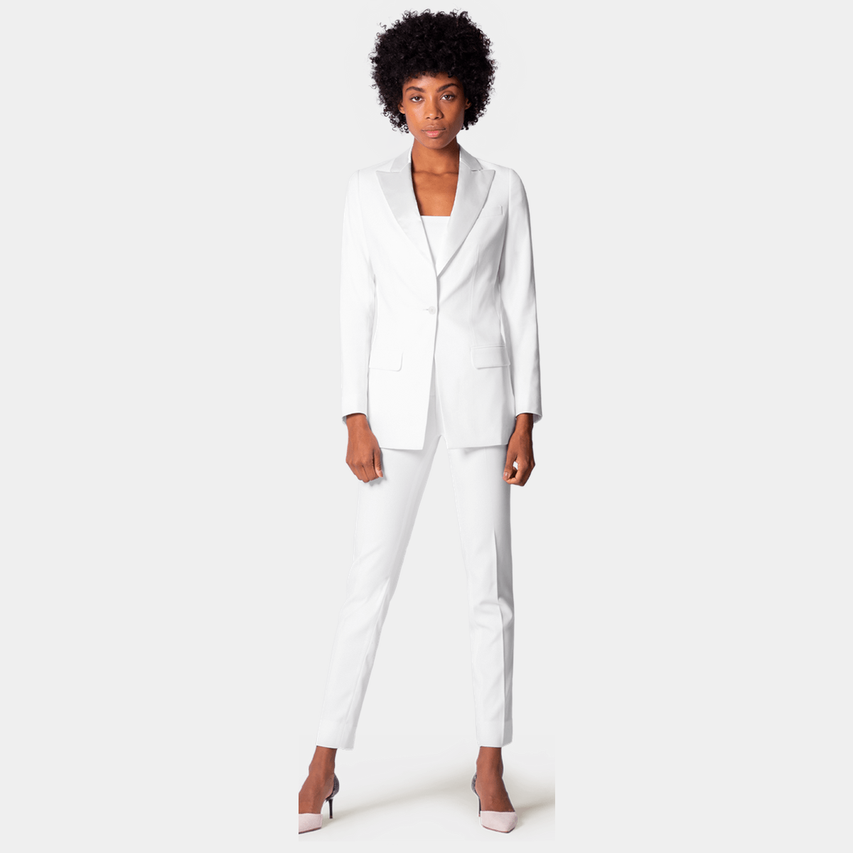 1dd5170c95d39 Women's White Suits - Made to Measure - Sumissura